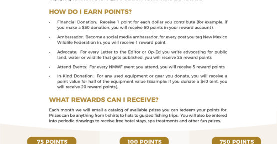 NMWF - Membership Point System-Front