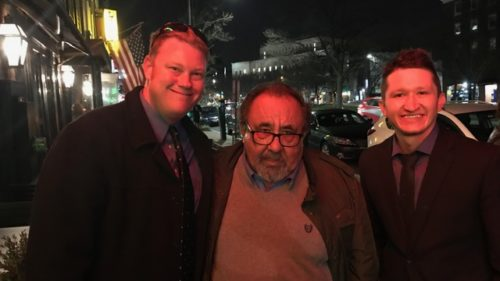 New Mexico Wildlife Federation staffers Andrew Black, left, and Jeremy Romero, right, stand with Rep. Raúl Grijalva, D-Arizona. Black and Romero were in Washington, D.C., to lobby for passage of a federal lands package that cleared the U.S. House on Tuesday.